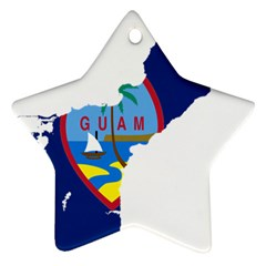 Flag Map Of Guam Star Ornament (two Sides) by abbeyz71