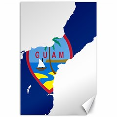 Flag Map Of Guam Canvas 24  X 36  by abbeyz71