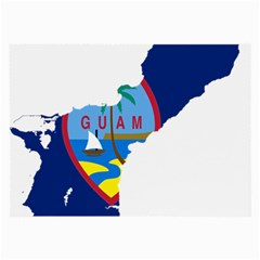 Flag Map Of Guam Large Glasses Cloth (2 Side) by abbeyz71