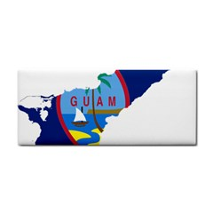 Flag Map Of Guam Hand Towel by abbeyz71