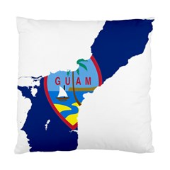 Flag Map Of Guam Standard Cushion Case (two Sides) by abbeyz71