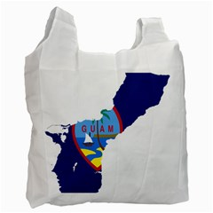 Flag Map Of Guam Recycle Bag (one Side) by abbeyz71