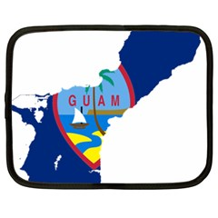 Flag Map Of Guam Netbook Case (xxl)