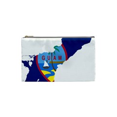 Flag Map Of Guam Cosmetic Bag (small) by abbeyz71