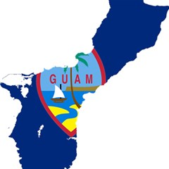 Flag Map Of Guam Magic Photo Cube
