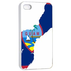 Flag Map Of Guam Apple Iphone 4/4s Seamless Case (white) by abbeyz71