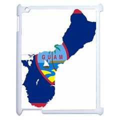 Flag Map Of Guam Apple Ipad 2 Case (white) by abbeyz71
