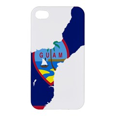Flag Map Of Guam Apple Iphone 4/4s Hardshell Case