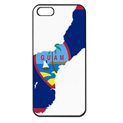 Flag Map Of Guam Apple Iphone 5 Seamless Case (black) by abbeyz71