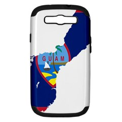 Flag Map Of Guam Samsung Galaxy S Iii Hardshell Case (pc+silicone)