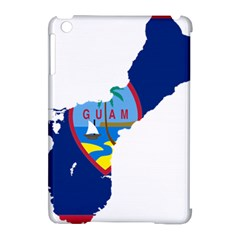 Flag Map Of Guam Apple Ipad Mini Hardshell Case (compatible With Smart Cover)