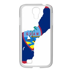 Flag Map Of Guam Samsung Galaxy S4 I9500/ I9505 Case (white)