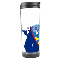 Flag Map Of Guam Travel Tumbler