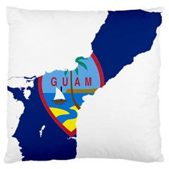 Flag Map Of Guam Large Flano Cushion Case (two Sides) by abbeyz71