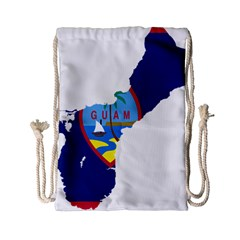 Flag Map Of Guam Drawstring Bag (small) by abbeyz71