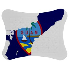 Flag Map Of Guam Jigsaw Puzzle Photo Stand (bow) by abbeyz71