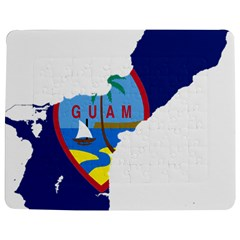 Flag Map Of Guam Jigsaw Puzzle Photo Stand (rectangular) by abbeyz71