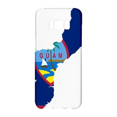 Flag Map Of Guam Samsung Galaxy S8 Hardshell Case  by abbeyz71