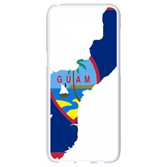Flag Map Of Guam Samsung Galaxy S8 White Seamless Case by abbeyz71