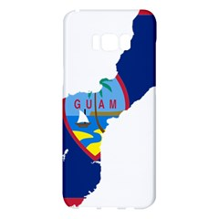 Flag Map Of Guam Samsung Galaxy S8 Plus Hardshell Case  by abbeyz71