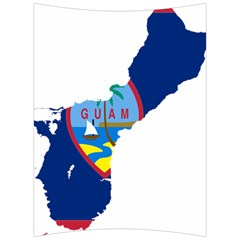 Flag Map Of Guam Back Support Cushion by abbeyz71