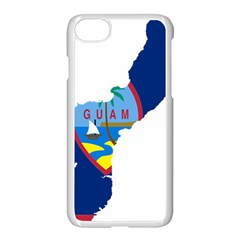 Flag Map Of Guam Apple Iphone 8 Seamless Case (white) by abbeyz71