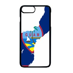 Flag Map Of Guam Apple Iphone 8 Plus Seamless Case (black) by abbeyz71