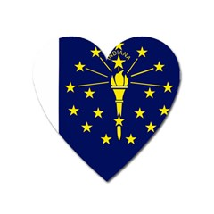 Flag Map Of Indiana Heart Magnet by abbeyz71
