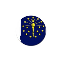 Flag Map Of Indiana Golf Ball Marker (4 Pack)