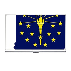 Flag Map Of Indiana Business Card Holder by abbeyz71