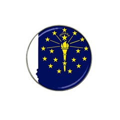 Flag Map Of Indiana Hat Clip Ball Marker