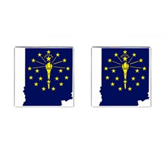 Flag Map Of Indiana Cufflinks (square)