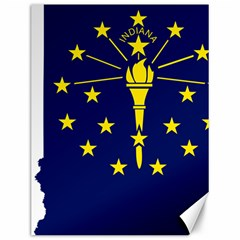 Flag Map Of Indiana Canvas 12  X 16