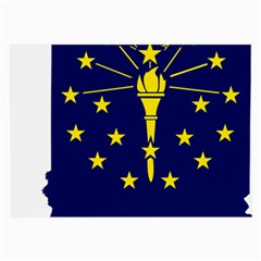 Flag Map Of Indiana Large Glasses Cloth