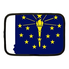 Flag Map Of Indiana Netbook Case (medium)