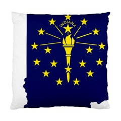 Flag Map Of Indiana Standard Cushion Case (one Side)