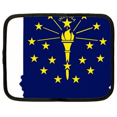 Flag Map Of Indiana Netbook Case (xl)