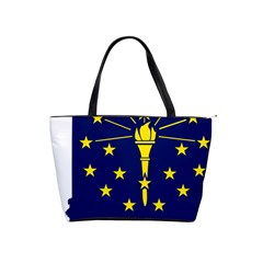 Flag Map Of Indiana Classic Shoulder Handbag