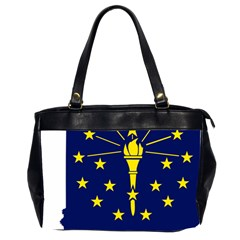 Flag Map Of Indiana Oversize Office Handbag (2 Sides)