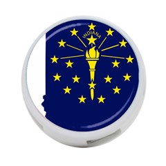 Flag Map Of Indiana 4 Port Usb Hub (one Side)