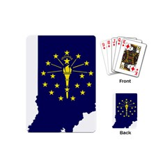 Flag Map Of Indiana Playing Cards (mini)