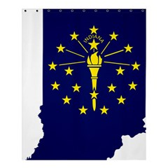 Flag Map Of Indiana Shower Curtain 60  X 72  (medium)