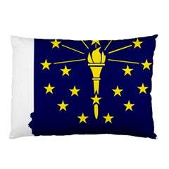 Flag Map Of Indiana Pillow Case (two Sides)