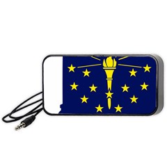 Flag Map Of Indiana Portable Speaker