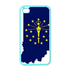 Flag Map Of Indiana Apple Iphone 4 Case (color)