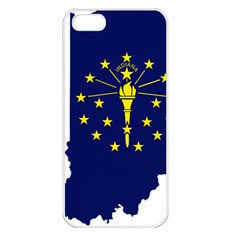 Flag Map Of Indiana Apple Iphone 5 Seamless Case (white) by abbeyz71