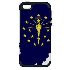 Flag Map Of Indiana Apple Iphone 5 Hardshell Case (pc+silicone)