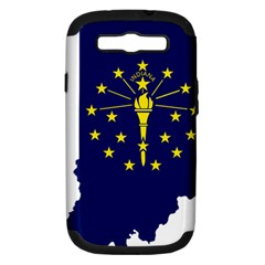 Flag Map Of Indiana Samsung Galaxy S Iii Hardshell Case (pc+silicone)