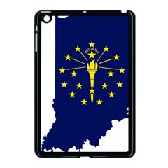 Flag Map Of Indiana Apple Ipad Mini Case (black)