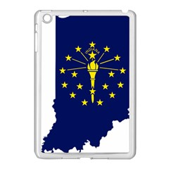 Flag Map Of Indiana Apple Ipad Mini Case (white) by abbeyz71